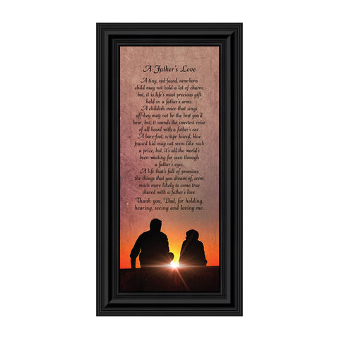 Father's Love, Meaningful Picture Frame Gifts for Dad, 6x12 7339