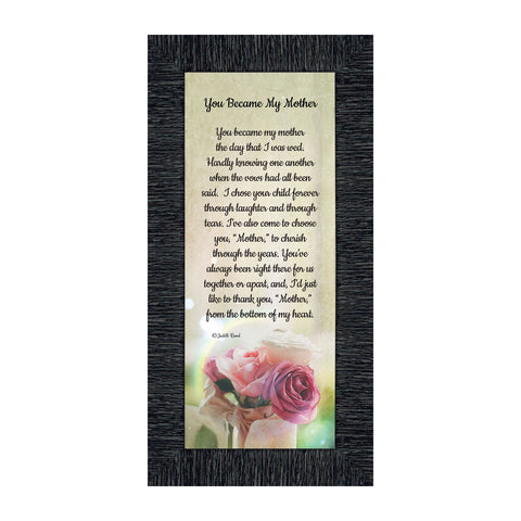 Mother In Law Gifts from Daughter In Law, Mother of the Groom Gifts from Bride, Birthday Gifts for Mother in Law, Gifts for In laws, Future Mother-In-Law Framed Poem, 7346