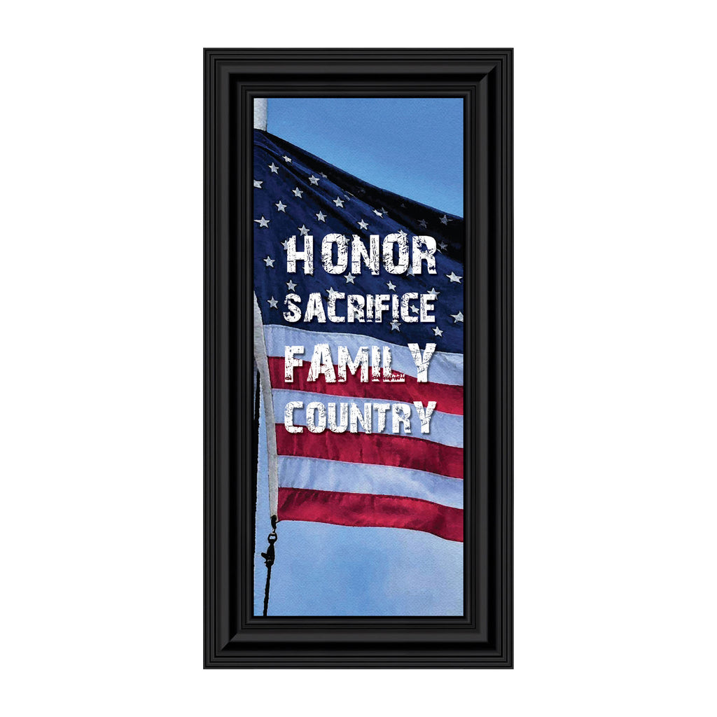 A Soldiers Honor, Military Gift, American Flag Picture Frame, 4x10 7347