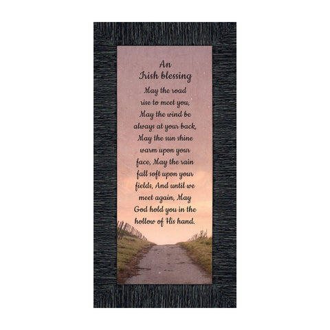 An Irish Blessing, May the Road Rise to Meet You, Celtic Home Blessing Wall Decor, 6x12 7351