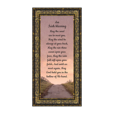 an Irish Blessing, Irish Blessing Picture Frame, May The Road Rise to Meet You, 6x12 7351