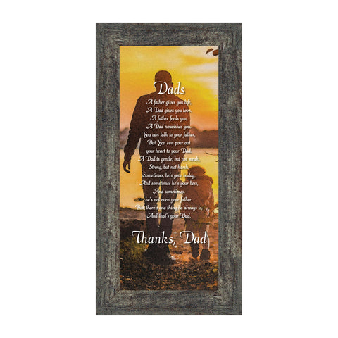 Dad, Meaningful Picture Frame Gifts for Dad, 6x12 7353