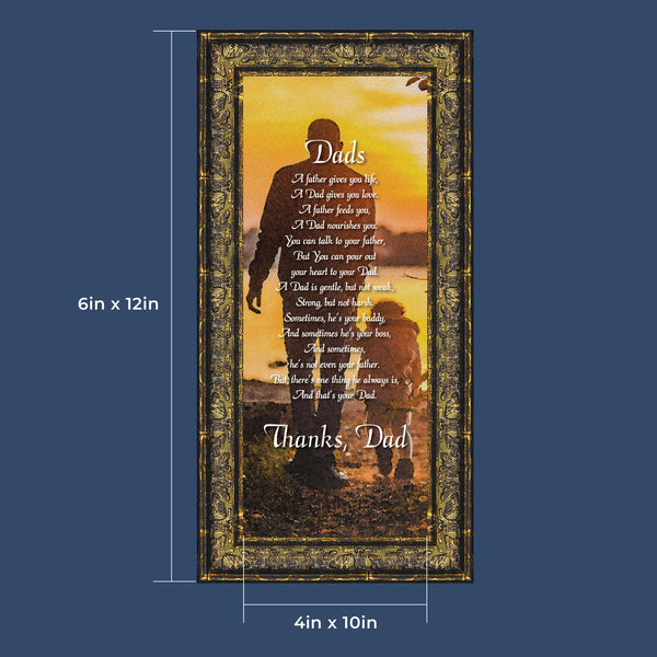 Thanking Dad For All He Has Done, Meaningful Picture Frame For Your Father,  6x12 7353
