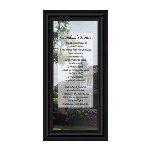 Grandmas House, Thanking Grandma For All She Has Done, Framed Poem, 6x12 7354