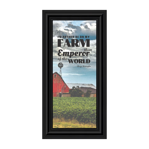 I'd Rather Be On My Farm, Country Gift, Farmer and Barn Picture Frame, 6x12 7355