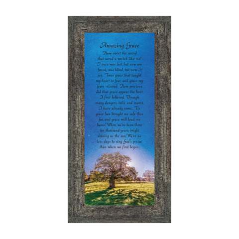 Amazing Grace, in Memory of Loved One, Gifts Religious, 6x12 7356