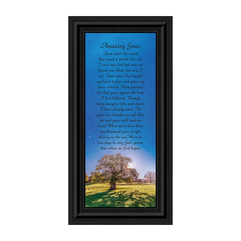 Amazing Grace, Great Hymns of the Faith, Picture Frame 6x12 7356