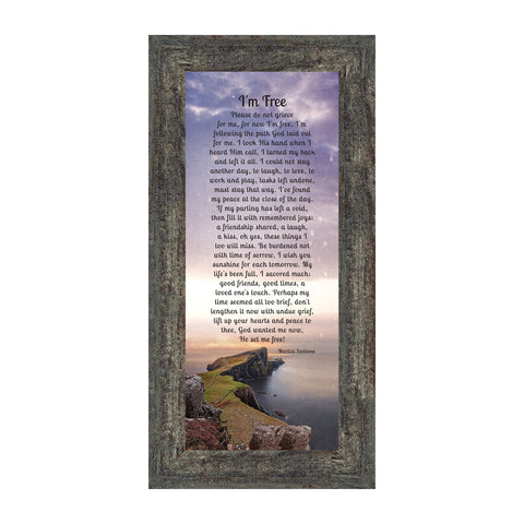 Im Free, Love One's in Heaven, Memory Photo Frame, 6x12 7357