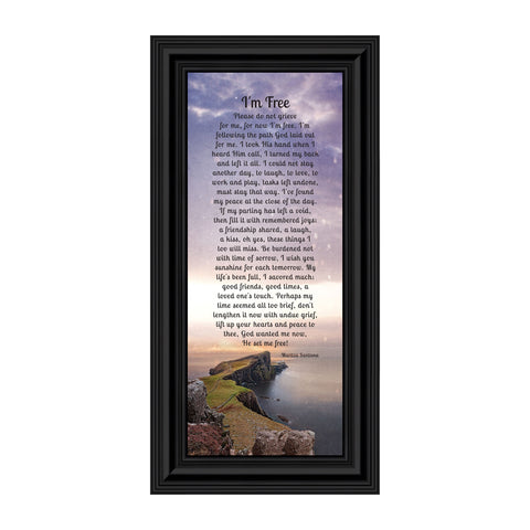 I'm Free, Love One's in Heaven, Sympathy or Condolence Memory Photo Frame, 6x12 7357