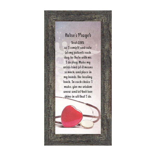 Nurses Prayer, Gift Appreciation for Special Nurses, Nurse Graduation 6x12 7358