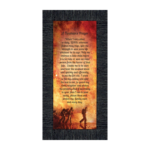 A Fireman's Prayer, Fireman Gifts and Decor, In Appreciation of Fireman, 6x12 7361