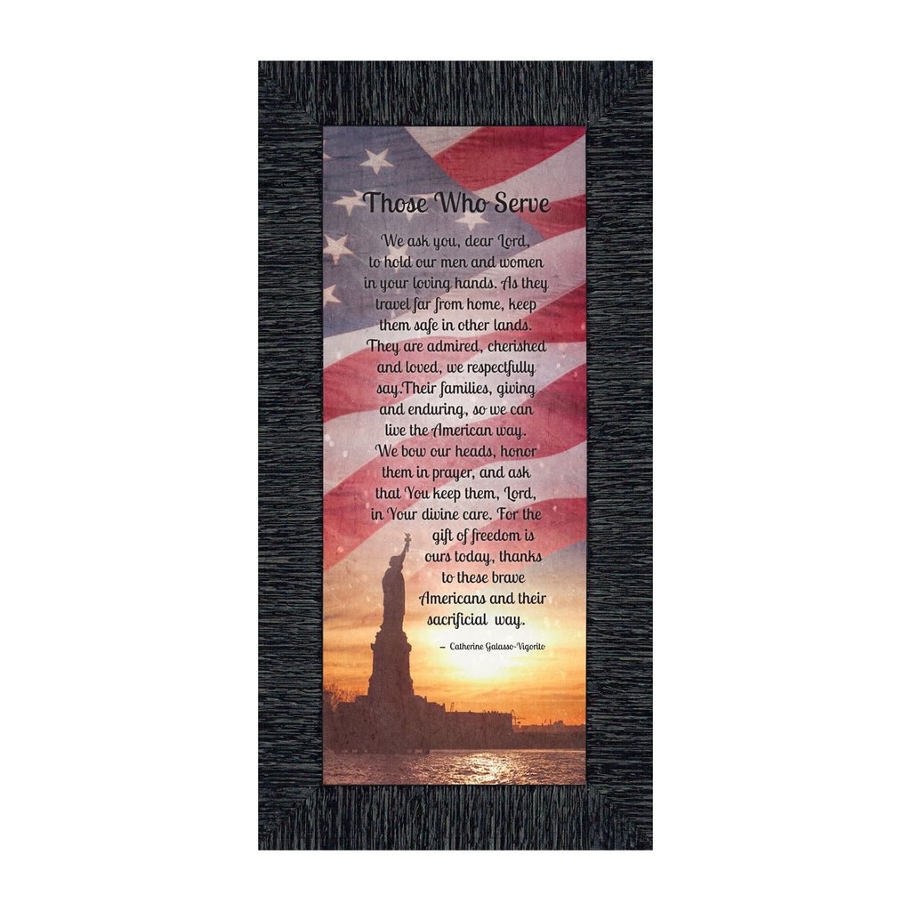 Those Who Serve, Military Picture Frame, Military Family Gifts, 6x12 7362