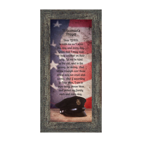 Policeman's Prayer, Picture Frame Gifts Men Police Officer, Gifts Cops, 6x12 7365