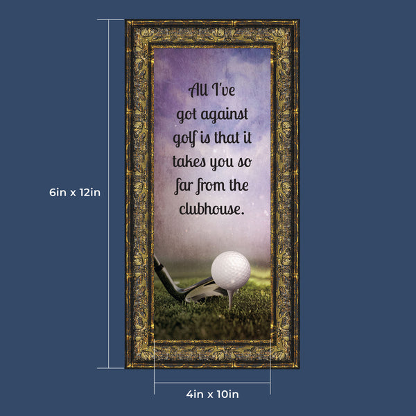 Golf, Funny Golf Gifts for Men and Women, Picture Framed Poem, 6x12 7367
