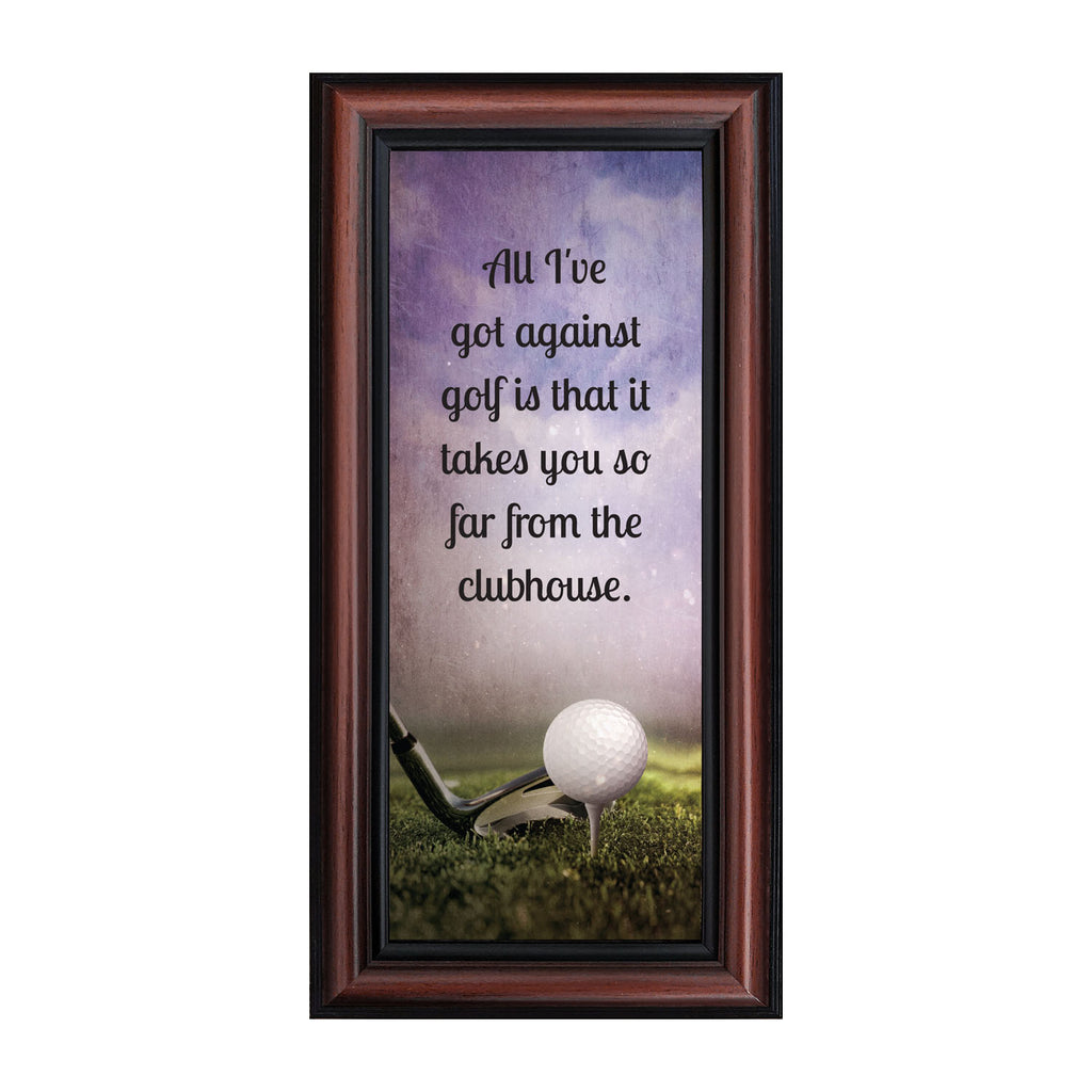 Golf Funny Golf Gifts For Men And Women Picture Framed Poem 6x12 73 Crossroads Home Decor