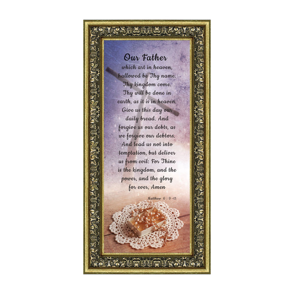 The Lord's Prayer, Our Father Prayer, Bible Verses Wall Decor, 6x12 7370