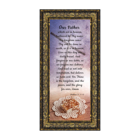 Lord's Prayer, The Lords Prayer Wall Decor, Bible Verses Wall Décor, 6x12 7370