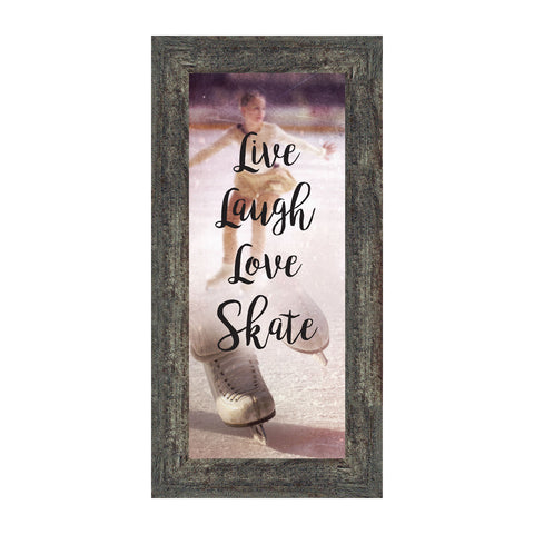 Figure Skating Picture Frame, Ice Dancer or Skater Decor Wall Art, 6x12 7371