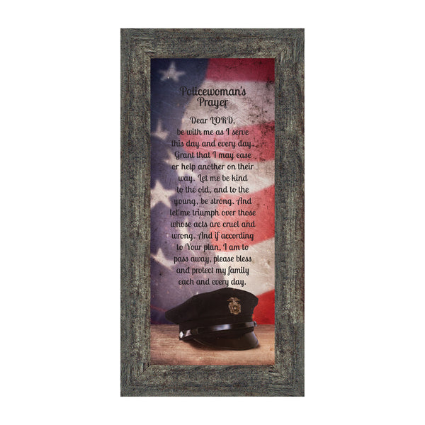 Policewomans Prayer, Police Officer Gifts for Women, Police Woman Décor, 6x12 7372