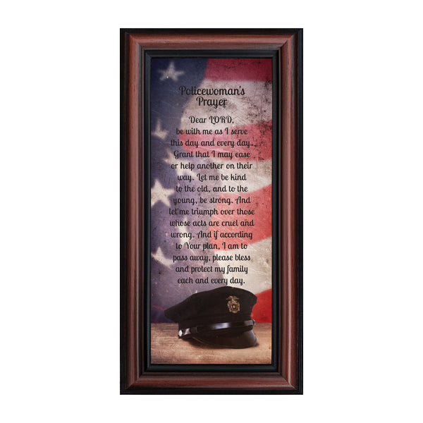 Policewoman's Prayer, Police Officer Gifts for Women, Police Woman Décor, 6x12 7372