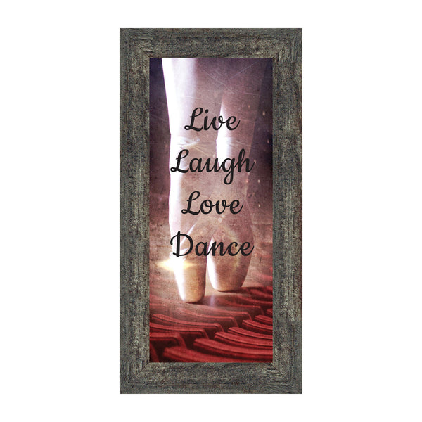 Ballet, Dancer Gifts for Teen Girls or Women, Dance Picture Frame, 6x12 7374