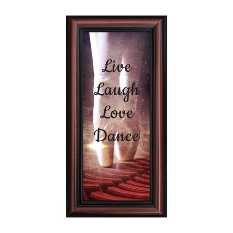 Ballet, Dancer Gifts for Teen Girls or Women, Framed Ballet Slippers, 6x12 7374