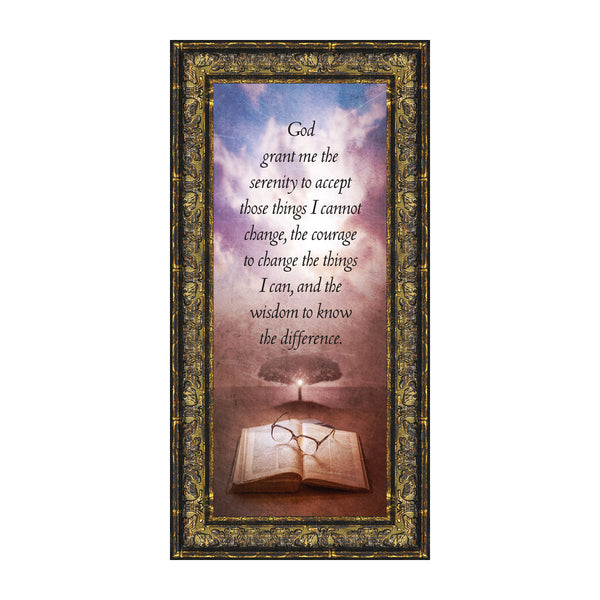 Serenity Prayer, Serenity Prayer Wall Decor, Prayer Art, 6x12 7375