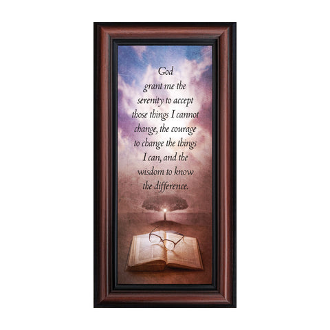 Frames of Mind Serenity Prayer, Serenity Prayer Wall Decor, 6x12 7375
