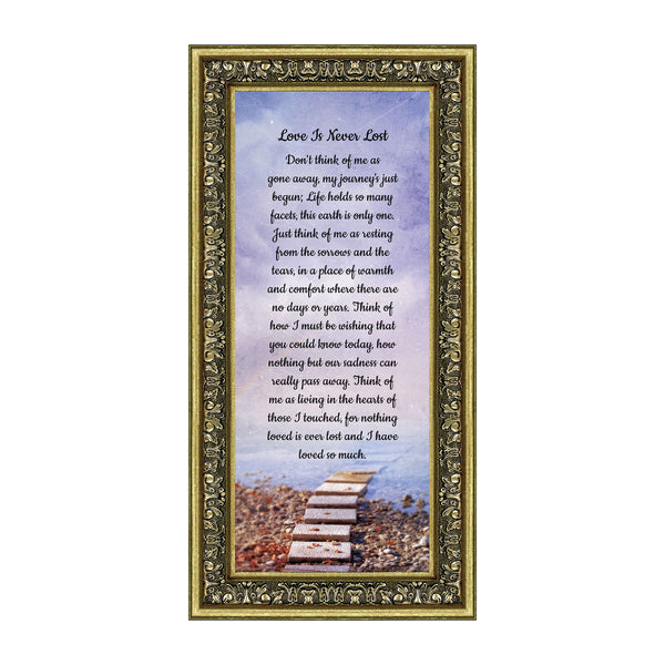 Love is Never Lost, in Remembrance Gifts, Love You Always Plaque, 6x12 7378