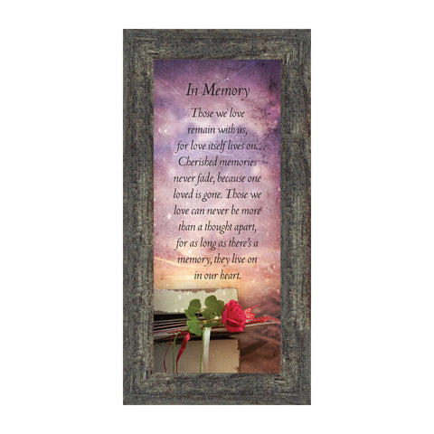 In Memory, for Loss of Loved One, Sympathy or Condolence Framed Gift, 6x12 7381