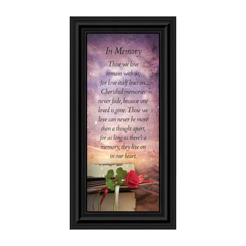 Crossroads Home Décor In Memory of Loved One, Memorial Gifts Picture Frames, Bereavement Gifts for Sympathy Baskets or Condolence Card, Sympathy Gifts for Loss of Mother, Loss of Father Gift Memory Framed Poem, 7381