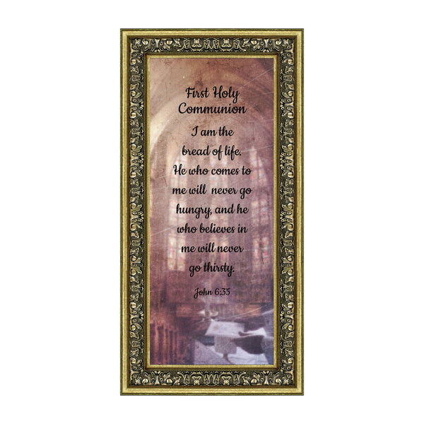 First Holy Communion, Religious Decor, Confirmation Picture Frame, 6x12 7385