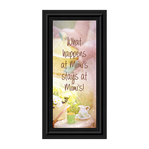 Mimi's House, Gift for Grandparent, Grandmother's Picture Frame, 6x12 7386