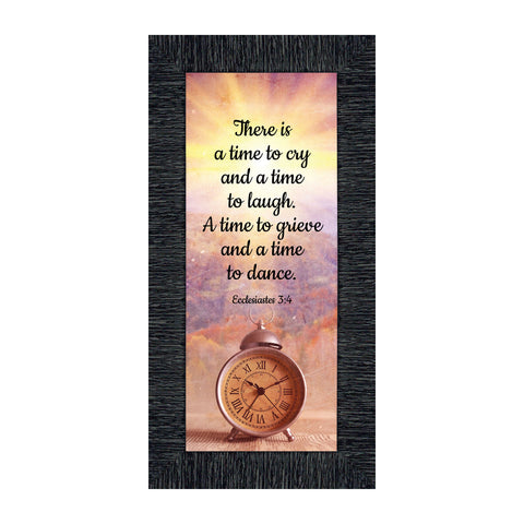 Crossroads Home Décor A Time for Everything, Religious Memory Gift, Decorative Scripture Art, 6x12 7391