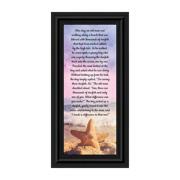 The Starfish Story, You Make a Difference, The Legend of a Star Fish, Appreciation Gift, Ocean Decor 6x12 7395