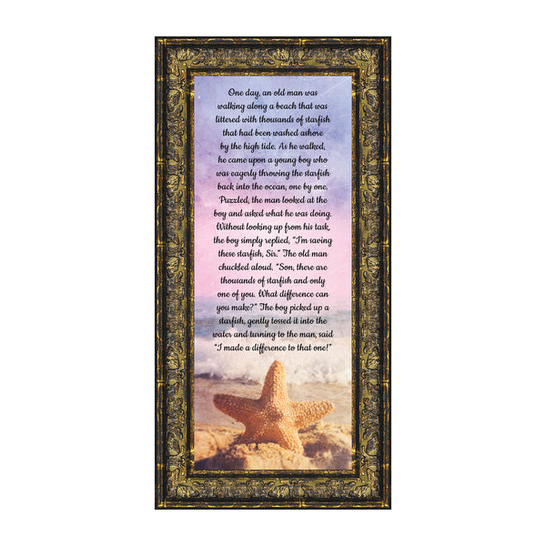 The Starfish Story, You Make a Difference, Appreciation Gift, 6x12 7395