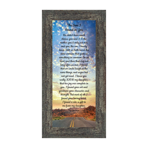 The Son I Found in You, Welcome to The Family, Son-in-Law Picture Frame, 6x12 7396
