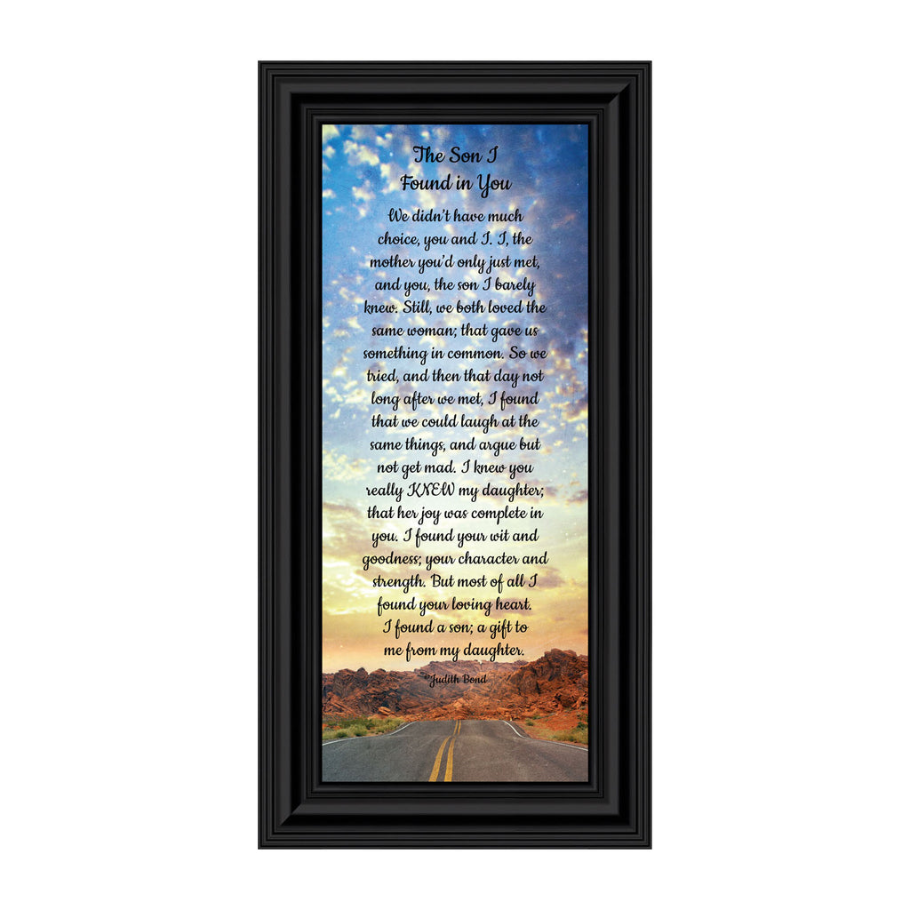 The Son I Found in You, Welcome to The Family, Gift for Son-in-Law Picture Frame, 6x12 7396