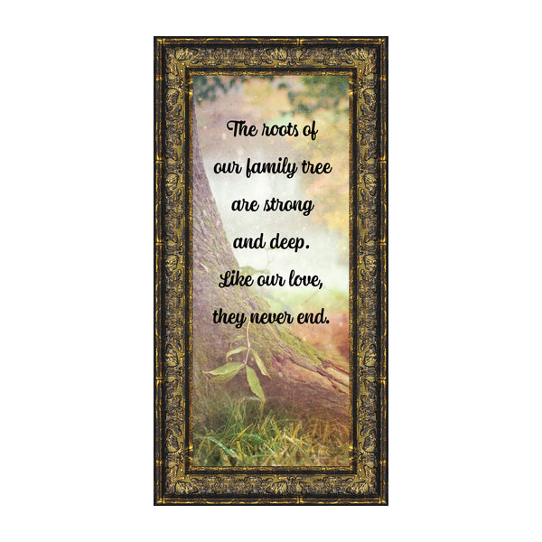 Our Roots, Inspirational Wall Art Decor, Family Tree Picture Frame, 6x12 7401