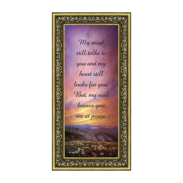 You are at Peace, Sympathy or Condolence Gift, Remembrance Gift, Memories Picture Frame, 6x12 7406