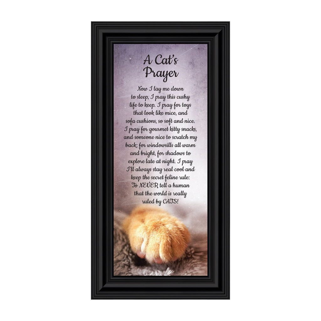 A Cat's Prayer, Pet Lover Gift, Paw Prints Picture Frame, 4x10, 7412