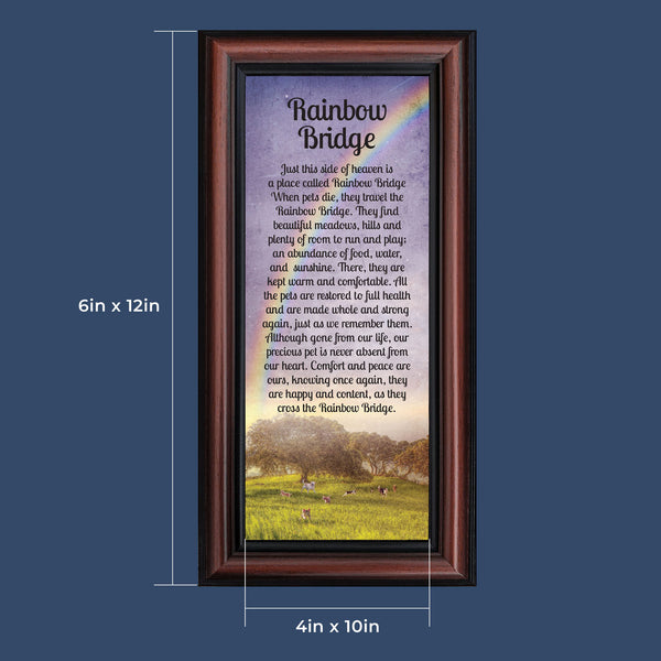 Rainbow Bridge Pet Memorial Gifts - Dog Memorial Gifts, Loss of Dog Gifts, Cat Memorial Gifts, Sympathy Gift for Loss of Pet, Pet Memorial Picture Frame, Cat or Dog Memorial Picture Frame, 7414