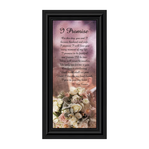 I Promise, Marriage Gift for Couples, I Love You Wedding Picture Frame, 6x12 7415