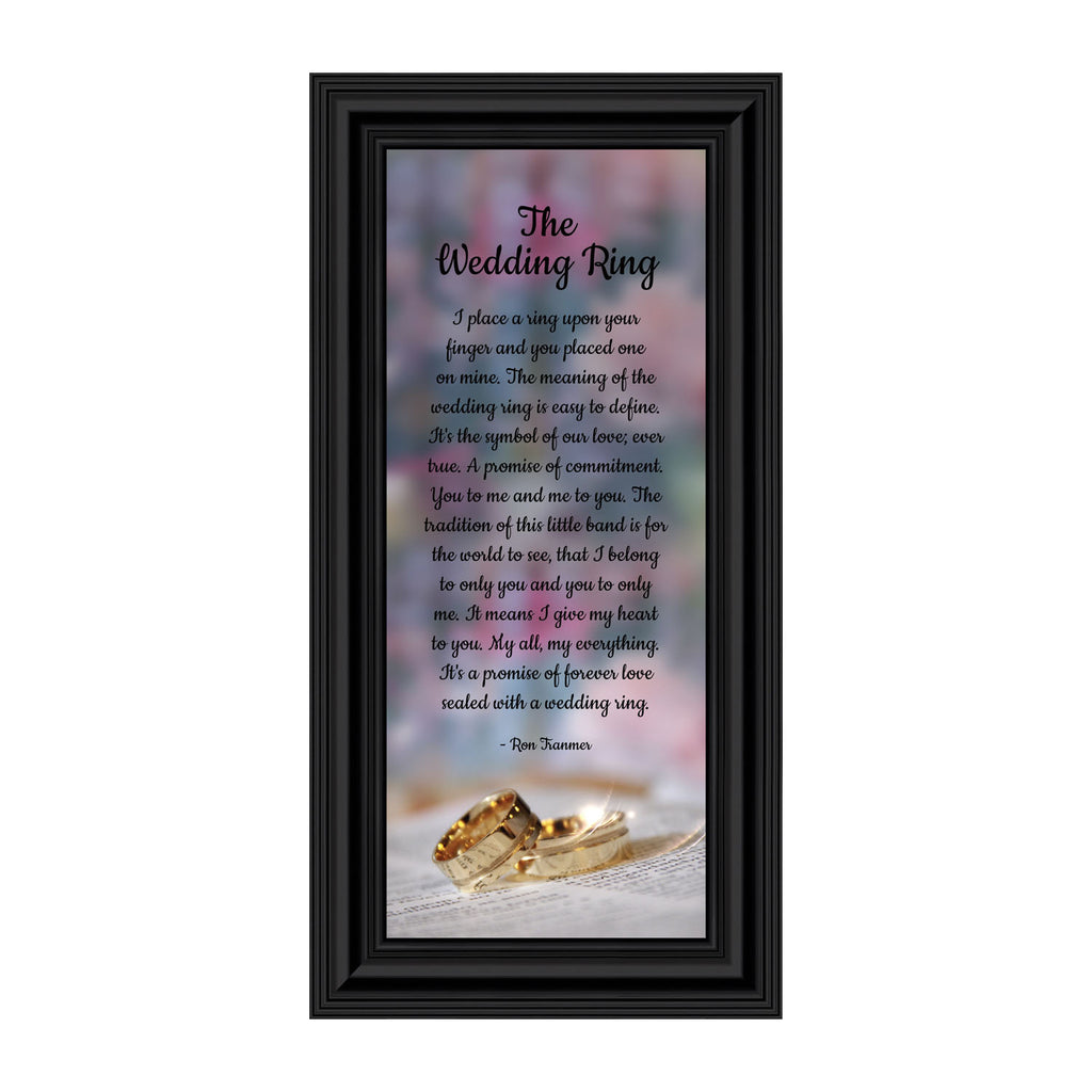 The Wedding Ring, Gift for Your True Love, Wedding Picture Frame, 6x12 7416