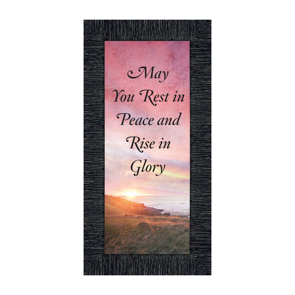 Rest in Peace, Loved Ones in Heaven, Sympathy Gift of Condolence, Memory Picture Frame, 6x12 7417