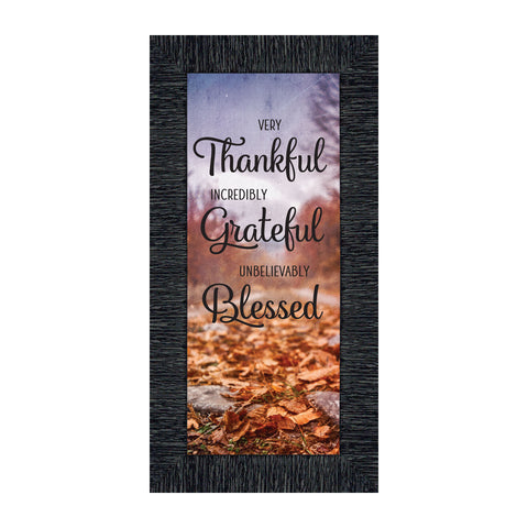 Very Thankful, Inspirational Quotes, Grateful Fall and Thanksgiving Décor, 6x12 7418