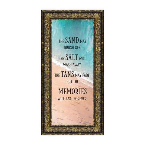 Memories Last Forever, Ocean Decor, Family Vacation Picture Frame, 6x12 7421