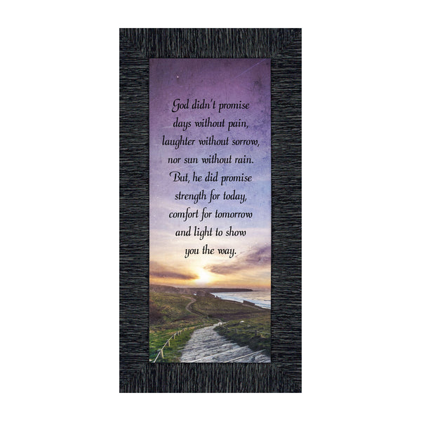 God's Promise of Peace, Faith Inspirational Gifts, Sympathy Gift Memory Picture Frame, 6x12 7422