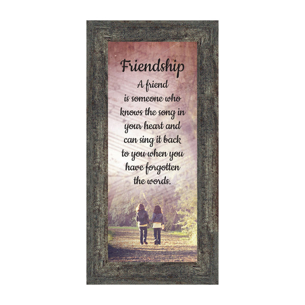 Friendship Song Framed Poem, Long Distance Friendship Gifts, Best Friend Birthday or Christmas Gift, 6x12, 7424