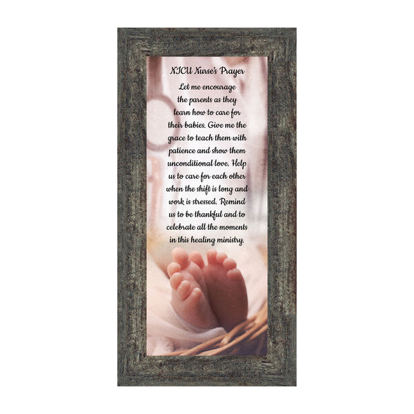 NICU Nurses Prayer, Nurse Appreciation Gifts, Infant Caregiver, Religious Picture Frame, 7427, 6x12